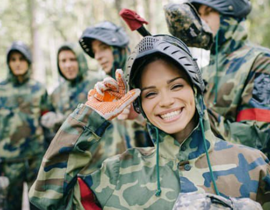 Paintball Girl Smiling